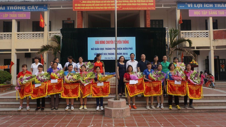 Giải bóng chuyền truyền thống nữ giáo dục thành phố Điện Biên Phủ lần thứ XIX