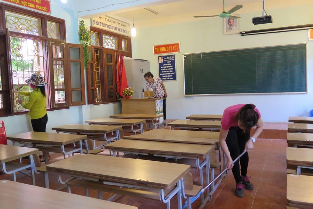 Công tác chuẩn bị cho năm học mới 2017-2018 tại trường tiểu học Bế văn Đàn